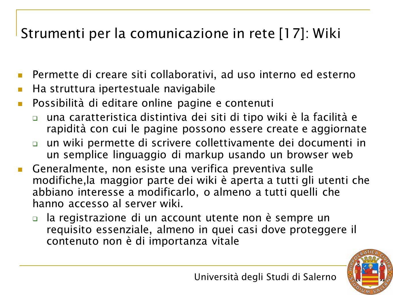 Strumenti per la comunicazione in rete [17]: Wiki